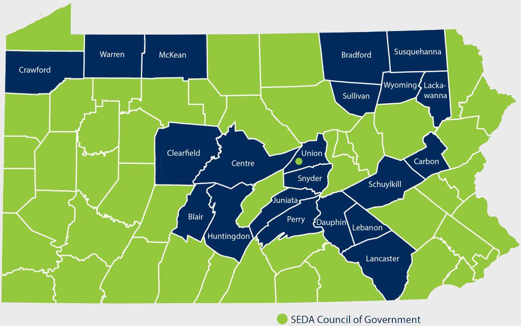PA County Map